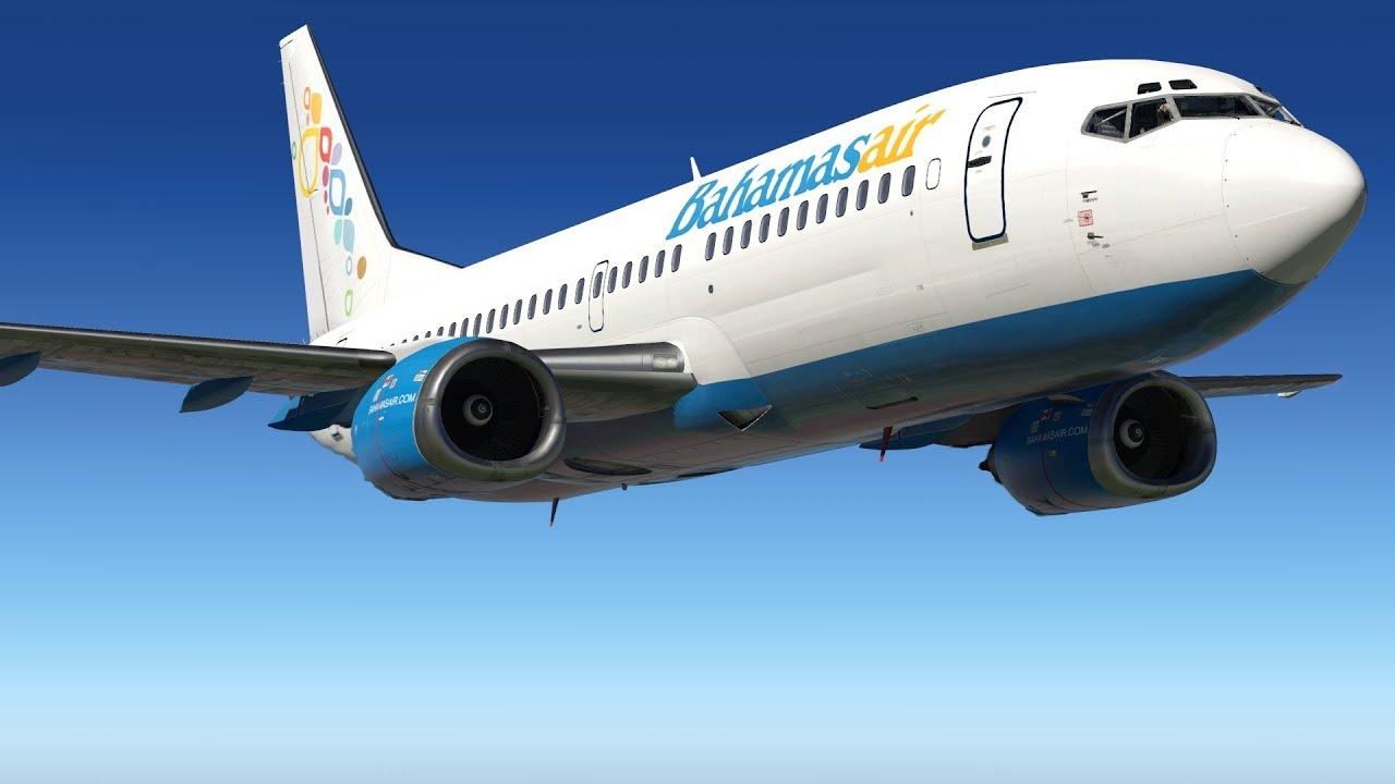 X-Plane 11 Bahamasair 737 Classic | Houston, TX to Nassau, Bahamas