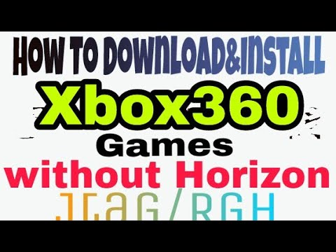 how to download xbox 360 games using horizon