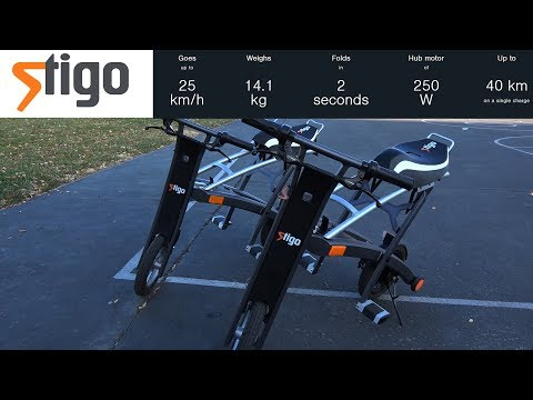 Nordic Electric Scooter Stigo LE1 Review (Folds Up In 2 Sec/Lightweight/Mobile App)