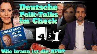 451 Grad || Polit Talkshows Illner Maischberger Anne Will analysiert | Wie braun ist die AfD? || 28