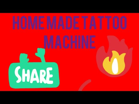 Home made tatoo machine using DC motor| amazing  invention