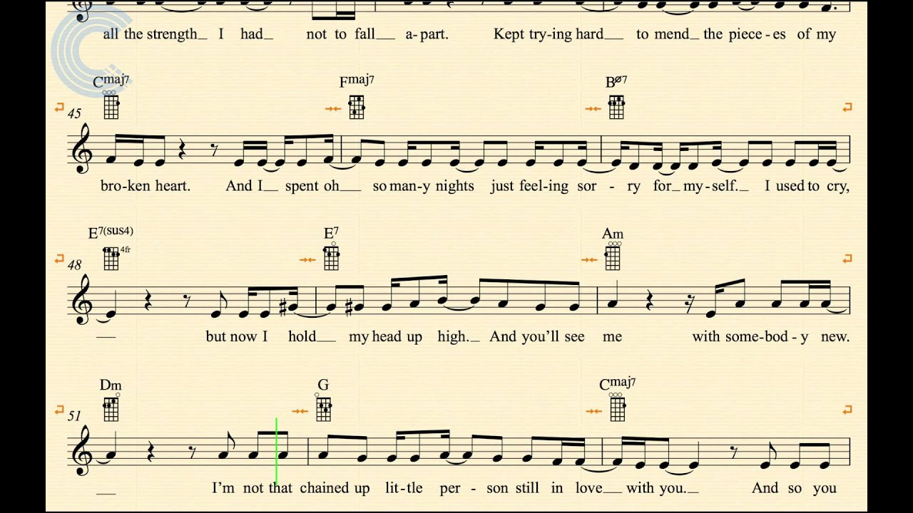 Ukulele i will survive gloria gaynor sheet music chords ukulele i will survive gloria gaynor sheet music chords vocals hexwebz Gallery