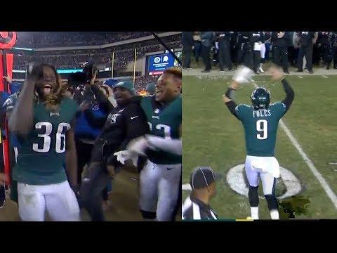 Eagles Celebrate Winning The NFC Championship! Vikings Vs Eagles