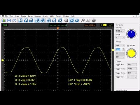 Hantek Tutorial: Measuring Mains (Wall Socket) Voltage 120VAC