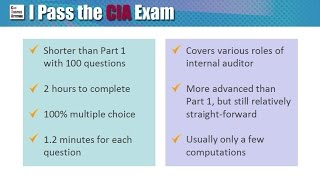 Passing CIA Part 2 Exam: Format, Content and Tips