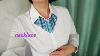 Necklace. Колье из бусин и бисера. Обзор