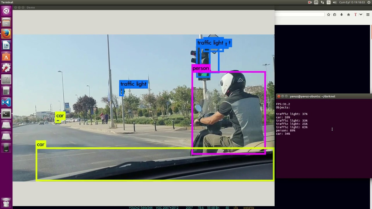 #YOLOv2 : Real-Time Object Detection In Turkey Traffic