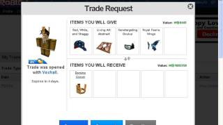Voxhall Send Me Trade request on Roblox his DC!