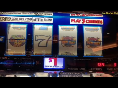Triple RED HOT - 4 Reels - Dollar Slot Machine@ Pechanga Resort Casino
