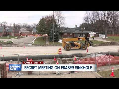 Secret meeting on sinkhole