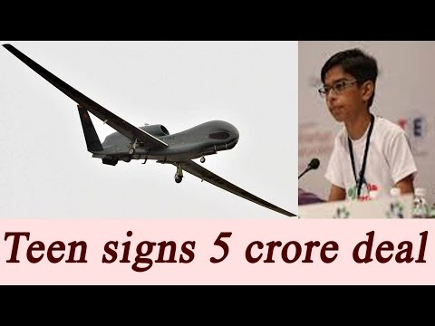 Gujarat teen signs Rs 5 crore deal for production of drones|Oneindia News