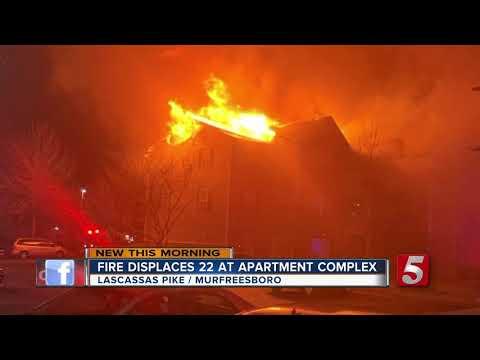 Fire displaces 22 at Murfreesboro apartment complex