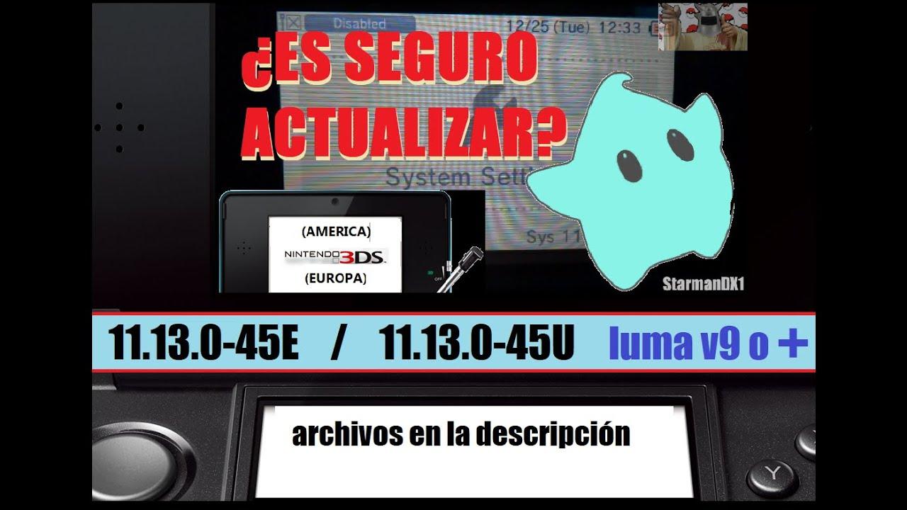 SOLUCIÓN AL BLOQUEO 3DS v 11 8 0-41 consolas Luma3ds (En la Descripción  NATIVE FIRM OLD/NEW)