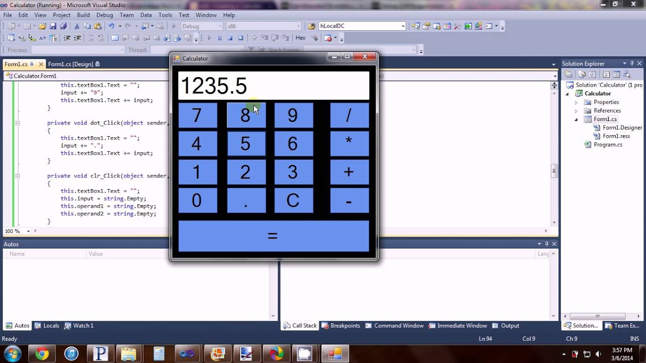 Creating a Calculator Visual Studio C#: 11 Steps