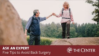 Five Tips to Avoid Back Surgery with Dr. Brad Ward