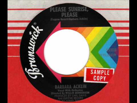 BARBARA ACKLIN Please Sunrise, Please Chicago Soul