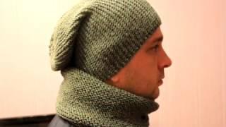 Как связать шапку Бини и снуд            How to tie a cap Bini