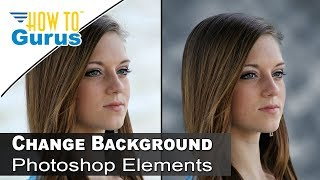 how to change to studio photography design background in photoshop elements 15 14 13 12 11 tutorial