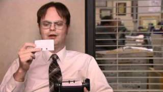 The Office: Dwight steals Michael's rolodex