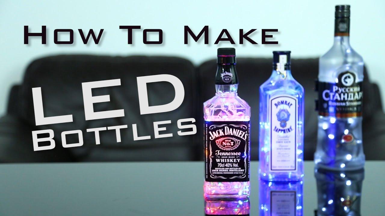 Howtomakelightupledbottles Ledbottles Bottlelight