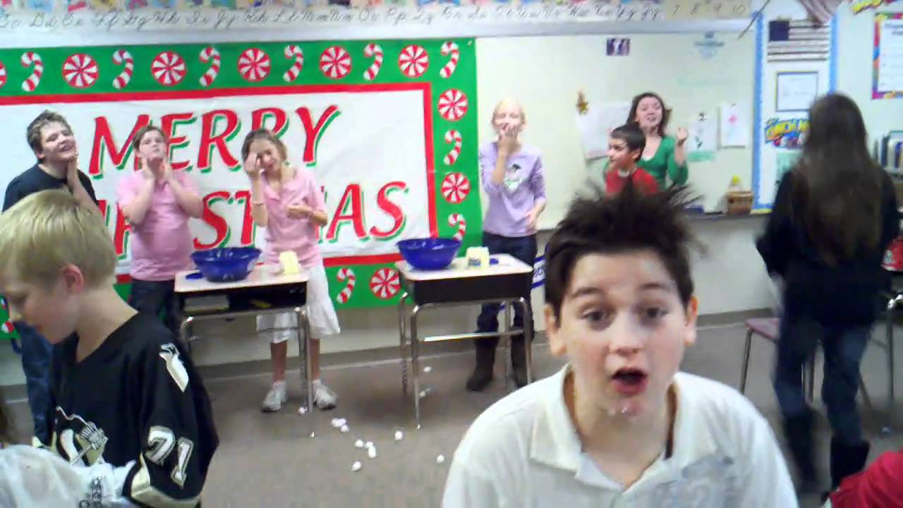 Lilley's 5th Grade Christmas Party-Snowball Relay - YouTube [ 720 x 1280 Pixel ]