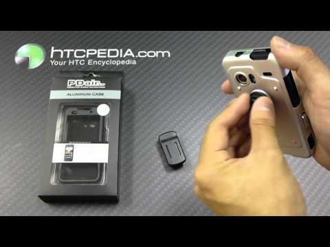 HTC DROID Incredible 1 PDair Aluminum Metal Case - Open Screen Design