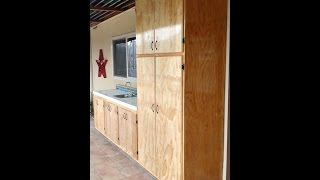"This video shows how to build cabinet doors using 3/4"" cabinet grade plywood. Shows how to router the edges of the door to give it"