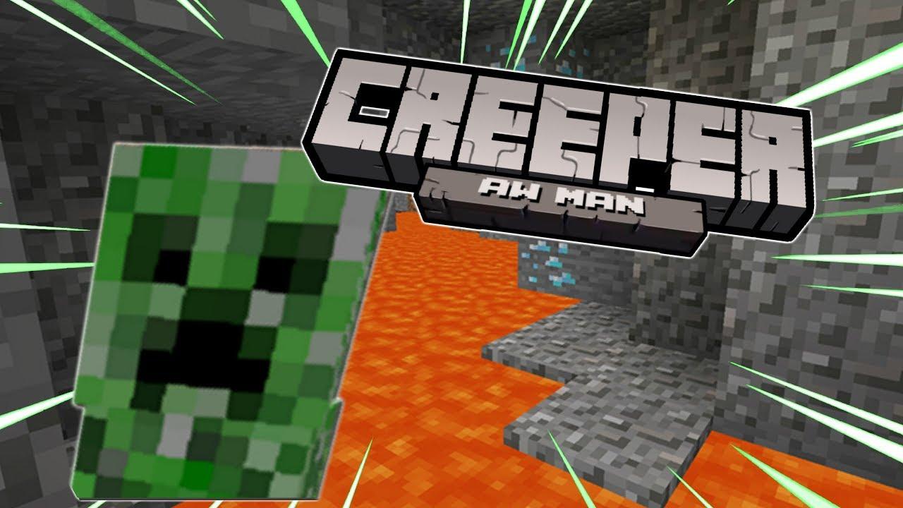 Creeper? Aww Man (MEME) - YouTube