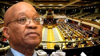President Jacob Zuma answers questions in Parliament
