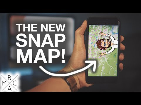 "How To Use Snapchat's ""SNAP MAP!"" 👻"