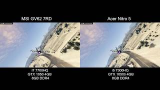 Acer Nitro 5 vs MSI GV62 7RD Gaming Comparision i7 7700HQ + GTX 1050 4GB vs i5 7300HQ + GTX 1050 Ti