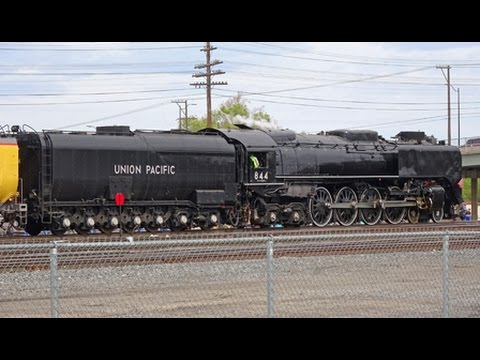 Union Pacific Steam! 844 in Nampa, Idaho  22 April 2017