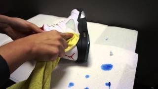 How to Get Soles back Icy Blue by Dyeing Your Soles ( AJ5,AJ6,AJ11, Foams,Etc.)