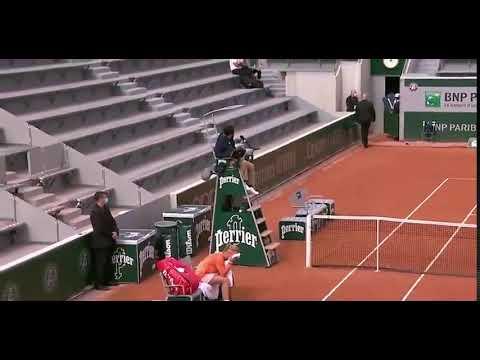 Tenista no cree en la lesión de su rival en Roland Garros: Vete a la mierda