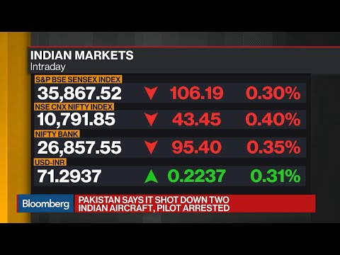Indian Stocks, Rupee Falls as Army Says Pakistan Downed Two Jets