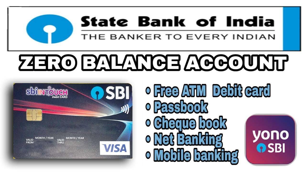 sbi zero account opening online