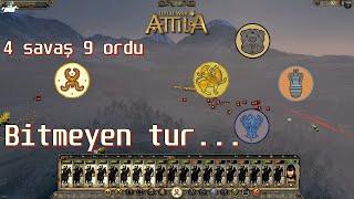 SONU GELMEYEN TUR AK HUNLAR #22 Total War: Attila TÜRKÇE [EFSANEVİ]