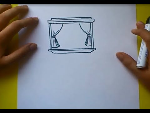 Como dibujar una ventana paso a paso 2 how to draw a window 2 youtube - Como confeccionar cortinas paso a paso ...