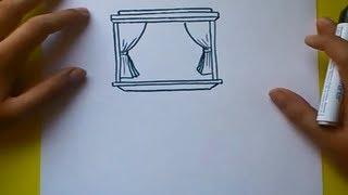 Como dibujar una ventana paso a paso 2 | How to draw a window 2