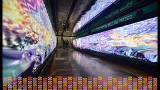 Exposición de Pedro Friedeberg en Metro Bellas Artes