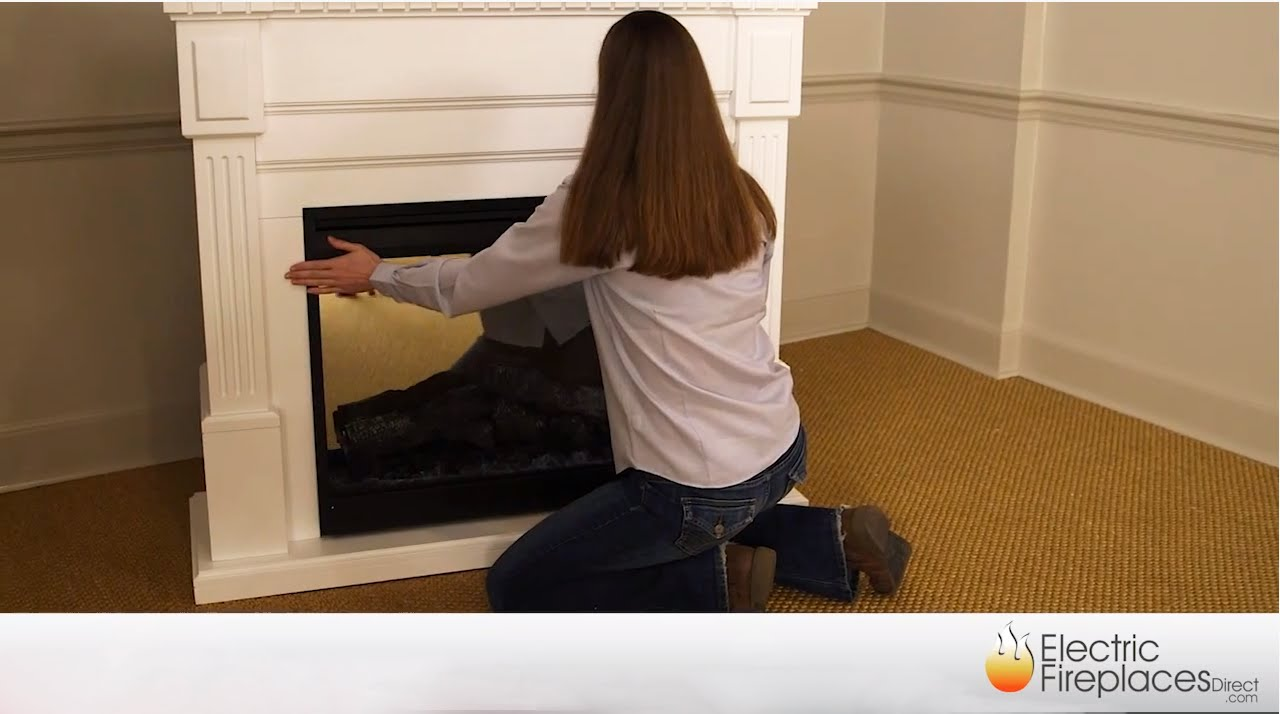 electric fireplace inserts mantel packages installation youtube