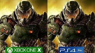 DOOM - PS4 PRO vs Xbox One X Graphics Comparison [4K/60fps]