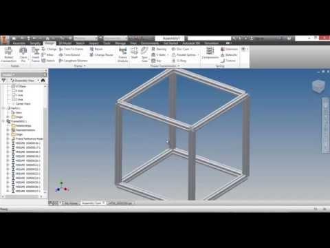 Autodesk Inventor Aluminum Frames Library