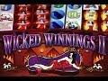 Wicked Winnings 2 -*MAX BET* - *HUGE WIN* - Slot Machine Bonus