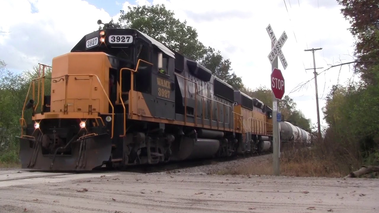 Ann Arbor Railroad Storage Train Chase + Rare Run On The Saline Branch And  Awesome P5A!! (10/7/17). Michigan Rail Productions