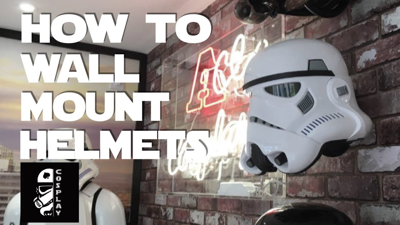 How To Wall Mount Stormtrooper Helmets Youtube