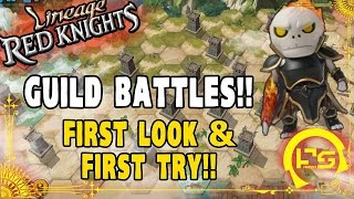 Lineage Red Knights: FIRST LOOK AT GUILD BATTLES!! GUILD FINALLY LVL.3!!