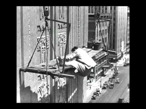 Harold Lloyd in Feet First (1930) - The Climbing Scene, Part 1