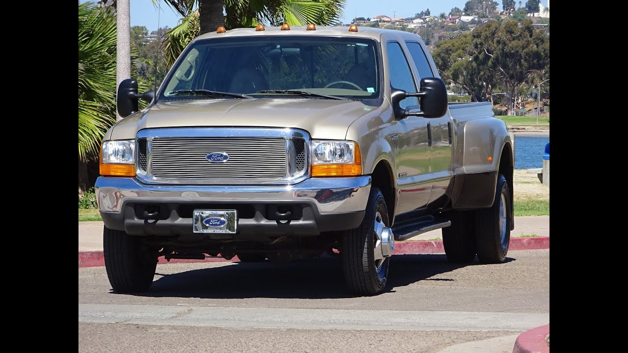 2000 ford f350 dually lariat 4x4 7 3l super duty diesel 158k miles crew cab long bed walk around youtube