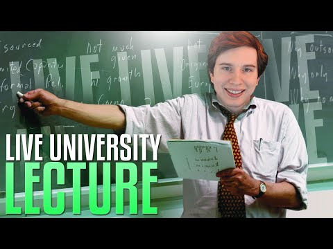 LIVE University Lecture! Candid Talk About YouTube, Streaming, & Content Creation